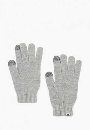 Перчатки adidas. Цвет: серый