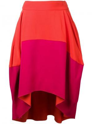 Юбка с драпировкой Antonio Berardi. Цвет: жёлтый и оранжевый