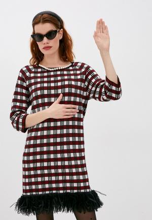 Платье Boutique Moschino. Цвет: разноцветный