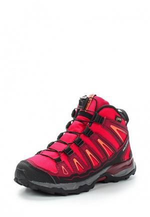 Ботинки трекинговые Salomon. Цвет: розовый