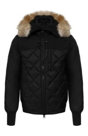 Пуховая куртка Pritchard на молнии с капюшоном Canada Goose. Цвет: черный
