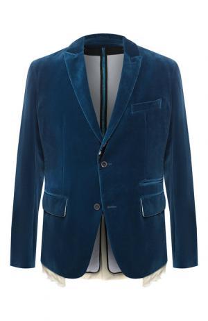 Пиджак из хлопка Haider Ackermann. Цвет: синий
