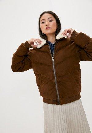 Куртка утепленная Serge Pariente. Цвет: коричневый