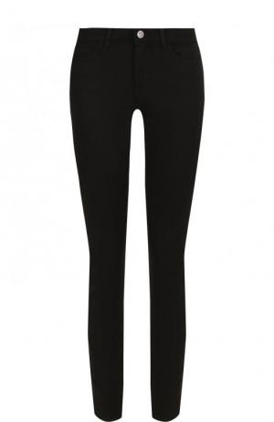Однотонные джинсы-скинни MiH Jeans. Цвет: черный