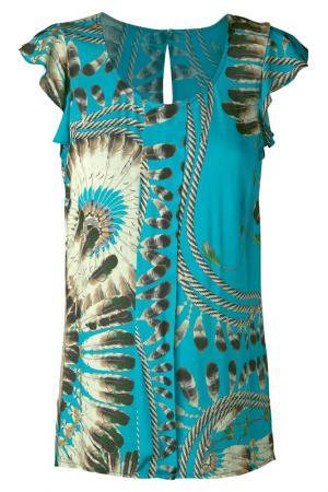 Блуза Apart. Цвет: голубой