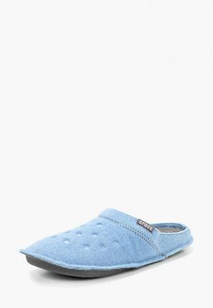 Тапочки Crocs. Цвет: голубой