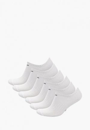 Носки 6 пар Nike. Цвет: белый