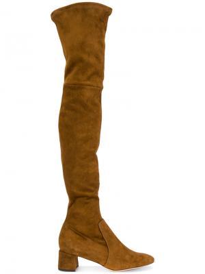 Ботфорты с закругленным носком Parallèle. Цвет: коричневый