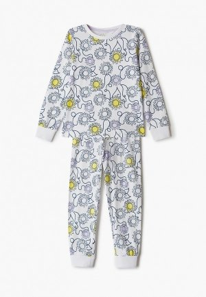 Пижама Blukids. Цвет: белый