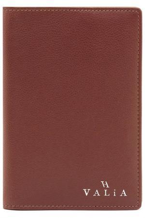 Обложка для документов VALIA. Цвет: коричневый