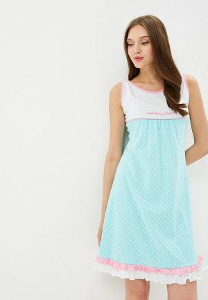 Сорочка ночная Kinanit. Цвет: бирюзовый