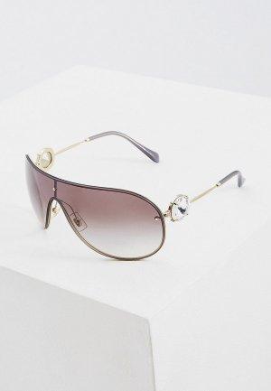 Очки солнцезащитные Miu. Цвет: серебряный
