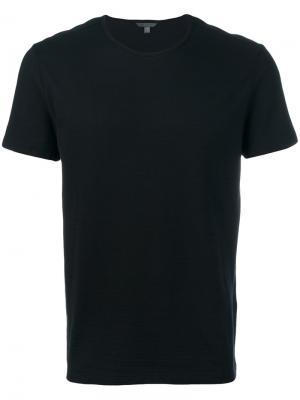 Однотонная футболка John Varvatos. Цвет: чёрный
