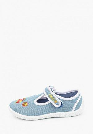 Туфли Chicco. Цвет: голубой