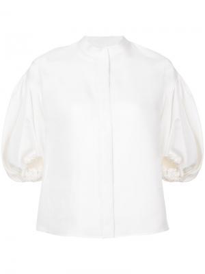 Блузка с рукавами-баллон Dice Kayek. Цвет: белый