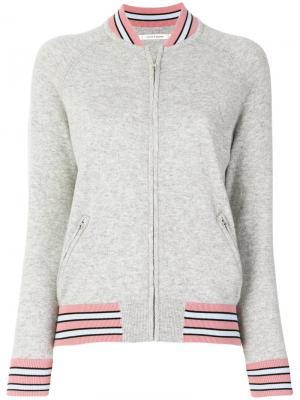 Трикотажная куртка-бомбер Chinti & Parker. Цвет: серый