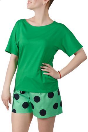 Пижамный комплект SONETT. Цвет: черно-зеленый