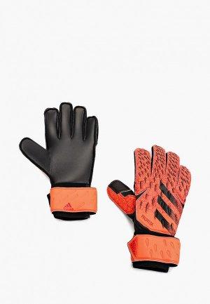 Перчатки вратарские adidas. Цвет: коралловый
