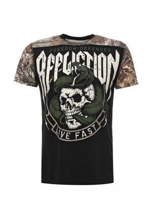 Футболка Affliction. Цвет: черный