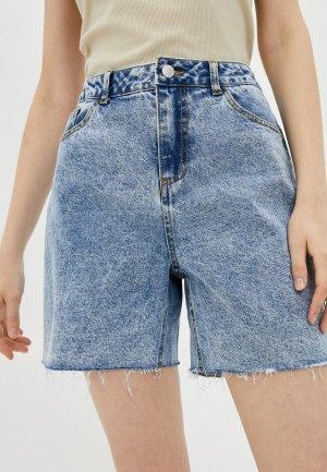 Шорты джинсовые b.young. Цвет: голубой