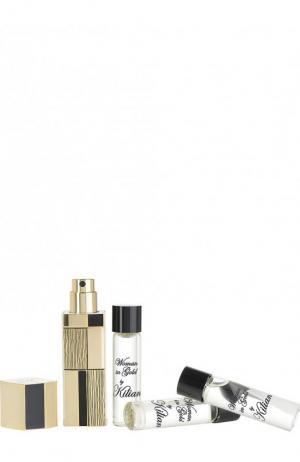 Набор для путешествия парфюмерная вода Woman in Gold Kilian. Цвет: бесцветный