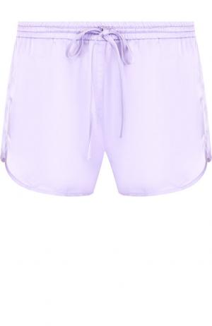 Однотонные мини-шорты с эластичным поясом Roque. Цвет: лиловый