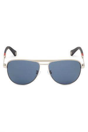 Солнцезащитные очки CAROLINA HERRERA. Цвет: серебряный
