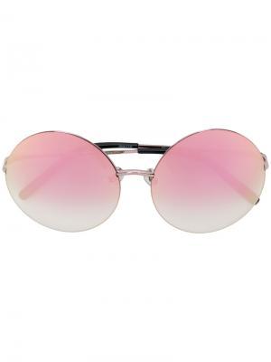 Солнцезащитные очки в круглой оправе Matthew Williamson. Цвет: розовый и фиолетовый