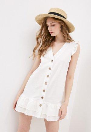 Платье пляжное Pilyq. Цвет: белый