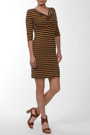 Платье FORNARINA. Цвет: фиолетово-желтый