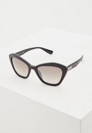 Очки солнцезащитные Miu. Цвет: черный