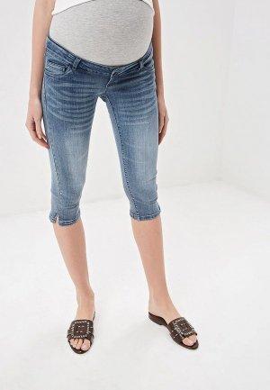 Шорты джинсовые Mamalicious. Цвет: голубой