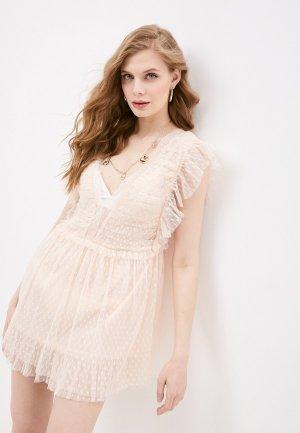 Платье пляжное Pilyq. Цвет: розовый