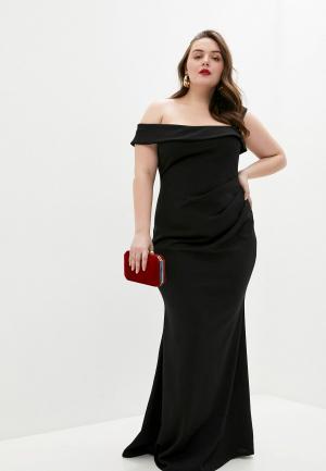 Платье Goddiva Size Plus. Цвет: черный