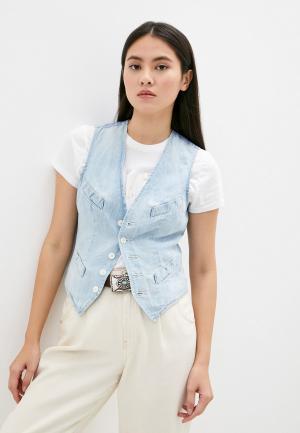 Жилет джинсовый Polo Ralph Lauren. Цвет: голубой