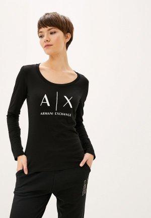 Лонгслив Armani Exchange. Цвет: черный
