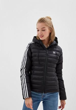 Куртка утепленная adidas Originals. Цвет: черный