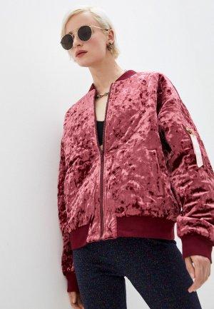Куртка утепленная Juicy Couture. Цвет: бордовый