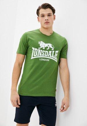 Футболка Lonsdale. Цвет: зеленый