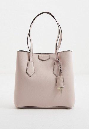 Сумка DKNY. Цвет: розовый