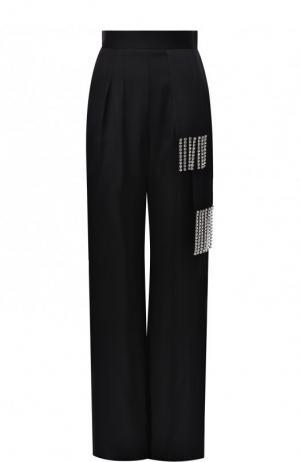 Однотонные брюки с завышенной талией и декоративной отделкой Christopher Kane. Цвет: черный