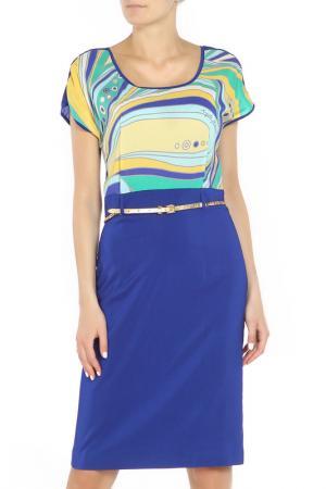Платье ANGELO MARANI. Цвет: синий