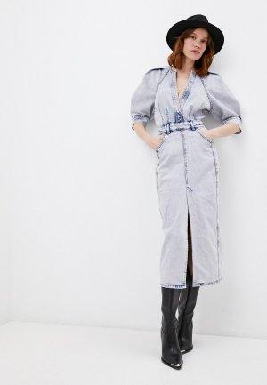 Платье джинсовое Iro. Цвет: голубой