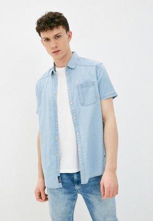 Рубашка джинсовая Blend. Цвет: голубой