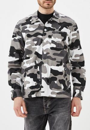 Рубашка Dickies. Цвет: серый