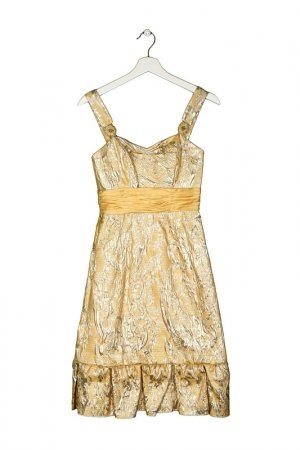 Платье BADGLEY MISCHKA. Цвет: золотой