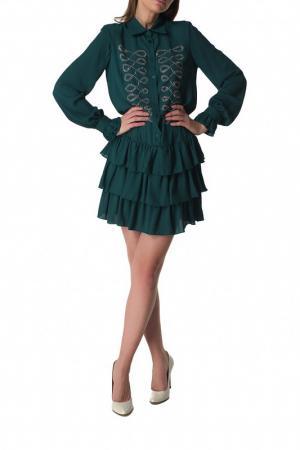 Платье DENNY ROSE. Цвет: зеленый
