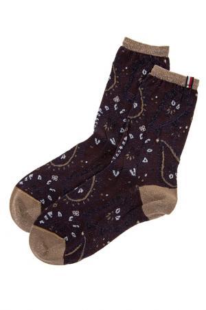 Носки TOMMY HILFIGER. Цвет: коричневый
