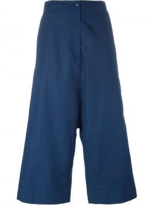 Укороченные брюки с заниженной проймой IM Isola Marras I'M. Цвет: синий