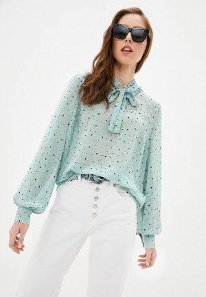 Блуза b.young. Цвет: бирюзовый